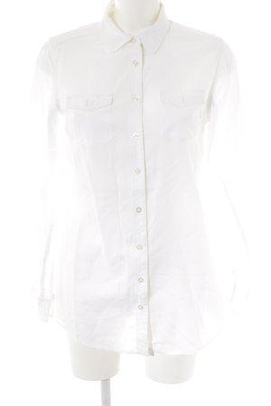 Maison Scotch Hemd-Bluse wollweiß schlichter Stil