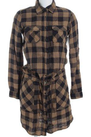 Maison Scotch Vestido tipo blusón estampado a cuadros look casual