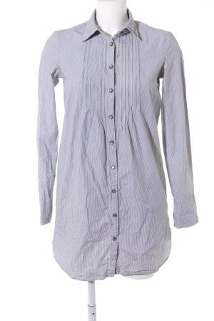 Maison Scotch Hemdblusenkleid weiß-dunkelgrau Streifenmuster Casual-Look