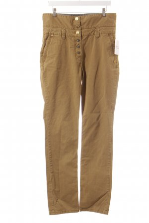 Maison Scotch High-Waist Hose khaki klassischer Stil