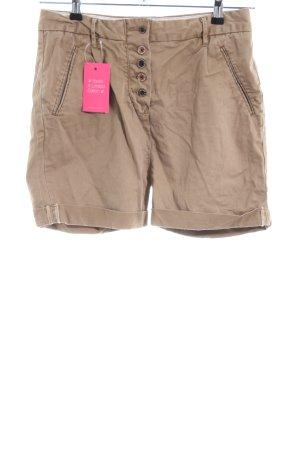 Maison Scotch High-Waist-Shorts bronzefarben Casual-Look