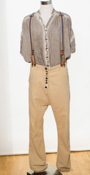 Maison Scotch Boyfriend Trousers camel-beige cotton