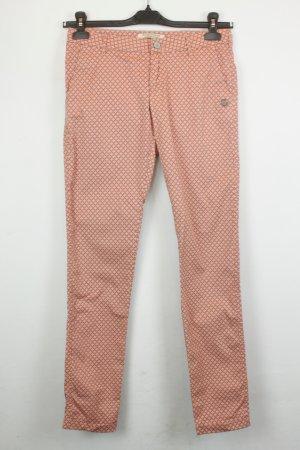 Maison Scotch Hose Slim Leg Gr. 26 beigerot lachs Muster | Modell: Miami Deco