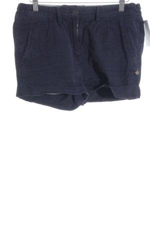 Maison Scotch Short moulant bleu foncé-noir motif rayé style décontracté