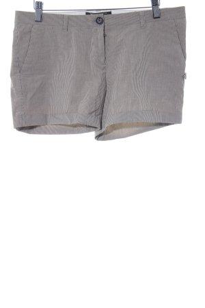 Maison Scotch Hot Pants hellbeige-grau Streifenmuster Casual-Look