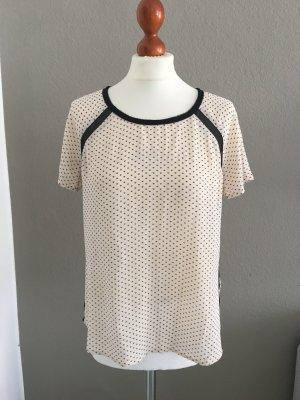 Maison Scotch hübsche Bluse Print weiß Gr. 2 S/M