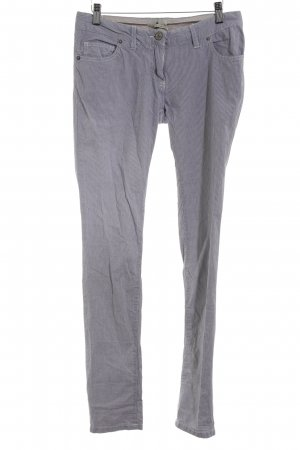 Maison Scotch Low-Rise Trousers white-dark blue striped pattern casual look