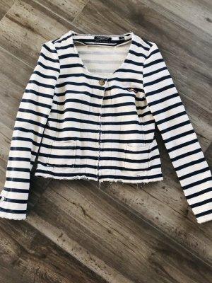 Maison Scotch Giacca-camicia beige chiaro-blu scuro Cotone
