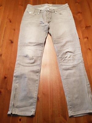 Maison Scotch Jeans da motociclista grigio chiaro