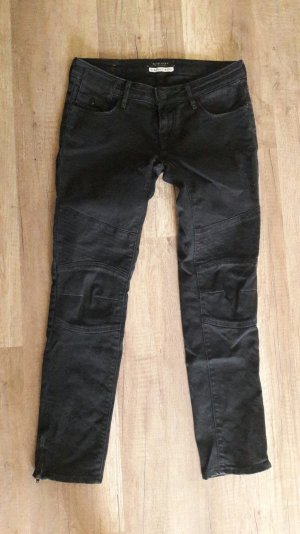 Maison Scotch Jeans Bikerjeans Bikerhose Denim Slim Fit Röhre Zipper
