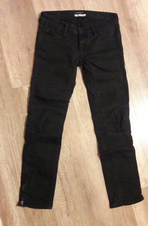 Maison Scotch Jeans Bikerjeans Bikerhose Zip Zipper Crop Ankle 27/32