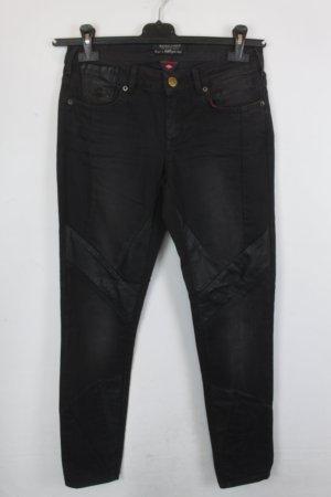 Maison Scotch Jeans de moto noir-gris anthracite coton