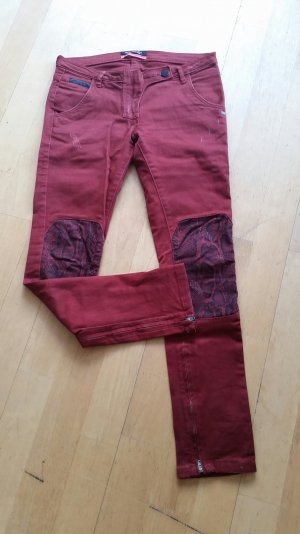 Maison Scotch Jeans Rot 26/30 Used Look Patch Patches