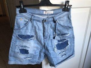 Maison Scotch Jeans Shorts blau hochgeschnitten W25 NEU