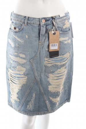 Maison Scotch Jeansrock blau Destroy-Optik
