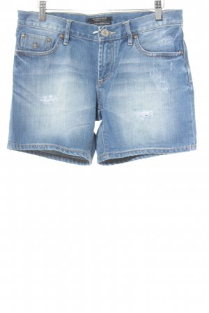 Maison Scotch Jeansshorts blau Washed-Optik