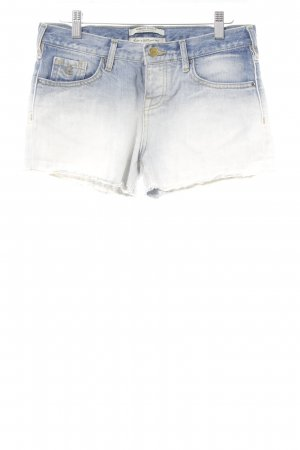 Maison Scotch Jeansshorts wollweiß-stahlblau Washed-Optik