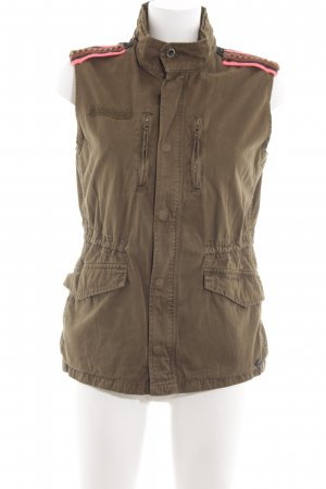 Maison Scotch Jeansweste bronzefarben Casual-Look