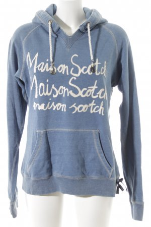 Maison Scotch Capuchon sweater blauw casual uitstraling