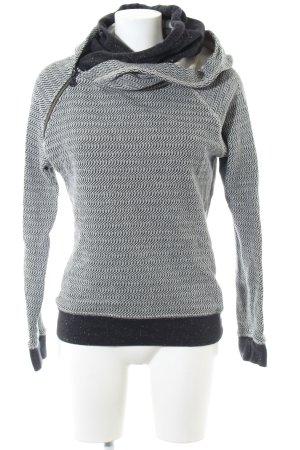 Maison Scotch Kapuzenpullover schwarz-weiß grafisches Muster Casual-Look