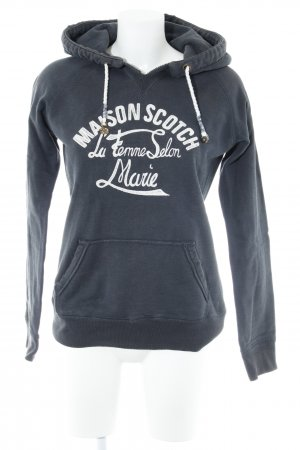 Maison Scotch Kapuzenpullover graublau Casual-Look