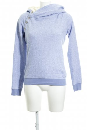Maison Scotch Maglione con cappuccio blu acciaio-crema stile romantico