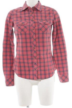Maison Scotch Geruite blouse lichtrood-antraciet geruite print