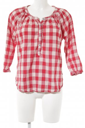 Maison Scotch Karobluse rot-weiß Karomuster Casual-Look