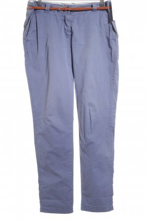 Maison Scotch Pantalón de color caqui azul celeste look casual