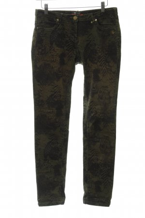 Maison Scotch Khakis khaki-green grey floral pattern casual look