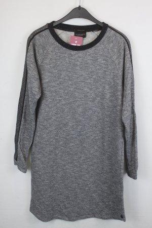 Maison Scotch Kleid Pulloverkleid Gr. M grau/schwarz mit silbernen Applikationen (18/5/569)