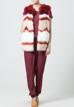 Maison Scotch Fur vest multicolored