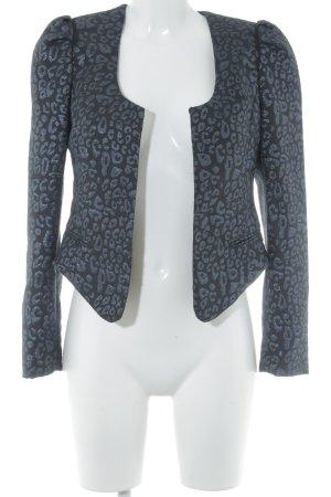 Maison Scotch Kurz-Blazer schwarz-blau Leomuster Casual-Look