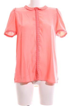 Maison Scotch Kurzarm-Bluse rot Casual-Look