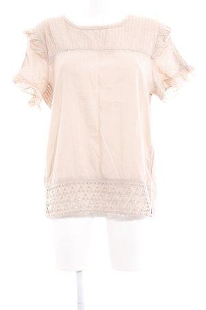 Maison Scotch Kurzarm-Bluse beige Casual-Look