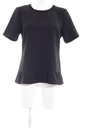 Maison Scotch Kurzarm-Bluse schwarz Sternenmuster Business-Look
