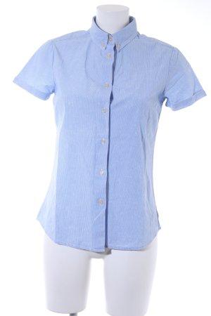 Maison Scotch Shirt met korte mouwen azuur-wolwit kleurvlekken patroon