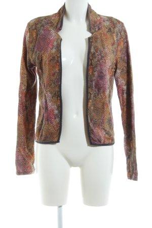 Maison Scotch Kurzjacke braun-pink abstraktes Muster Casual-Look