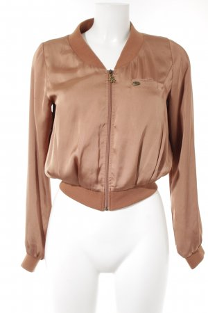 Maison Scotch Kurzjacke bronzefarben Glanz-Optik