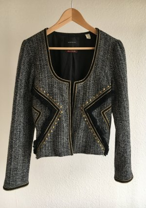 Maison Scotch Kurzjacke s/w goldene Applikationen
