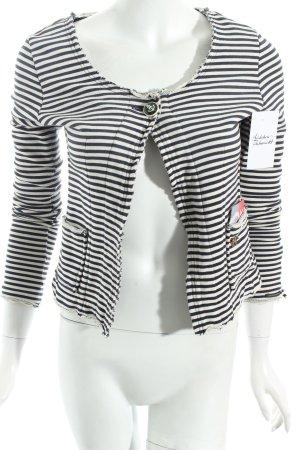 Maison Scotch Kurzjacke weiß-dunkelblau Streifenmuster Marine-Look