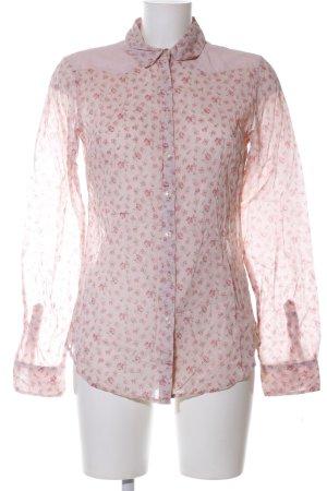 Maison Scotch Langarm-Bluse pink-khaki Blumenmuster Casual-Look