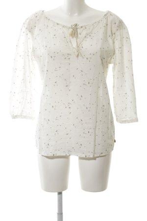 Maison Scotch Langarm-Bluse creme-braun Blumenmuster Casual-Look