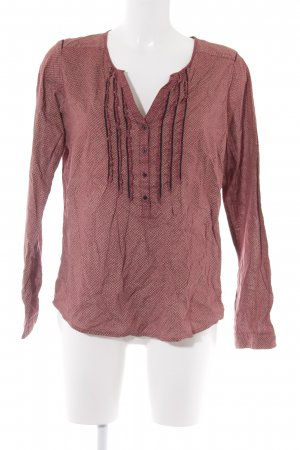Maison Scotch Langarm-Bluse abstraktes Muster Casual-Look