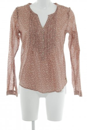 Maison Scotch Langarm-Bluse apricot Blumenmuster Casual-Look