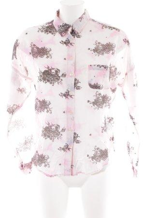 Maison Scotch Langarm-Bluse blasslila Farbtupfermuster extravaganter Stil