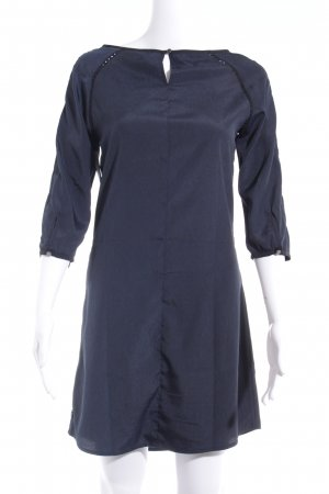 Maison Scotch Langarm-Bluse dunkelblau-schwarz abstraktes Muster Casual-Look