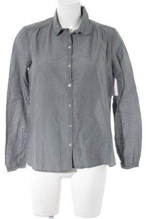 Maison Scotch Langarm-Bluse graublau Casual-Look