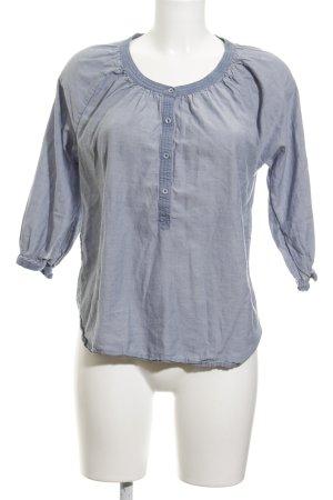 Maison Scotch Langarm-Bluse himmelblau-kornblumenblau Casual-Look