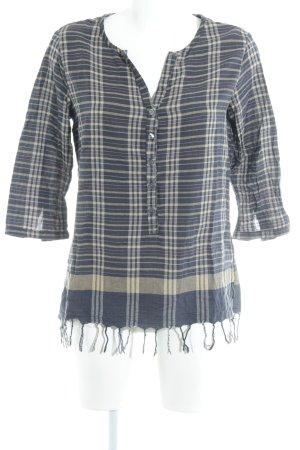 Maison Scotch Langarm-Bluse Karomuster Casual-Look